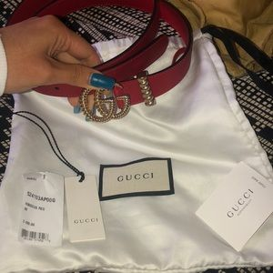 GUCCI MARMONT RED BELT